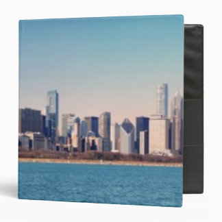 Panorama of the Chicago skyline 3 Ring Binder