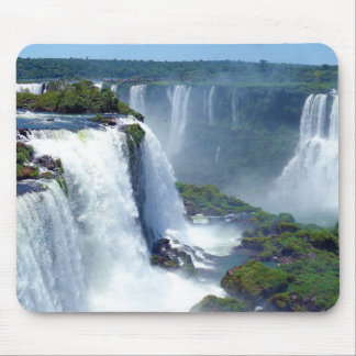 Panorama of the Iguazu Waterfalls from Brazil Mouse Pad