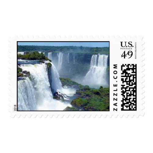 Panorama of the Iguazu Waterfalls from Brazil Postage
