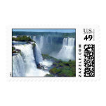 Panorama of the Iguazu Waterfalls from Brazil Postage Stamps
