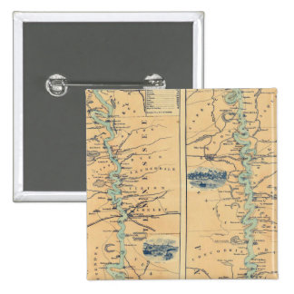 Panorama Of The Mississippi Valley 2 Inch Square Button