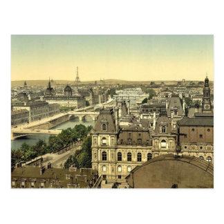 Panorama of the seven bridges, Paris, France class Postcard