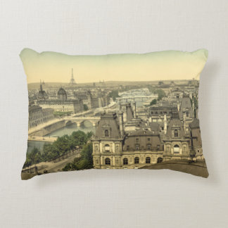 Panorama of the Seven Bridges, Paris, France Decorative Pillow
