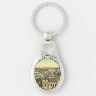 Panorama of the Seven Bridges, Paris, France Keychain