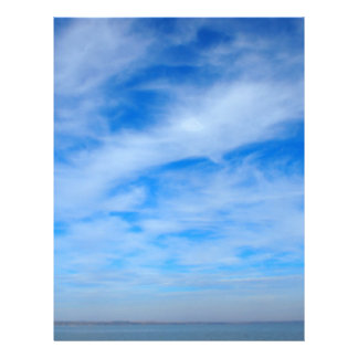 Panorama of the sky over the lake of white cirrus letterhead
