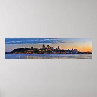 Panorama of Ville de Quebec in Quebec Canada Poster