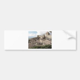 Panorama of Volterra village, province of Pisa Bumper Sticker