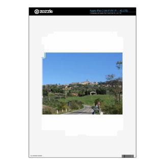 Panorama of Volterra village, province of Pisa iPad 3 Decal