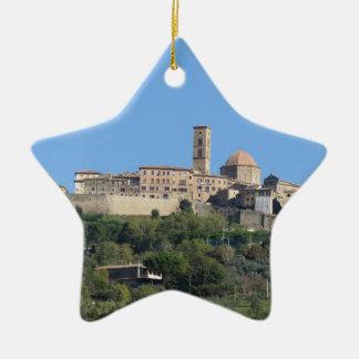 Panorama of Volterra village . Tuscany, Italy Ceramic Ornament