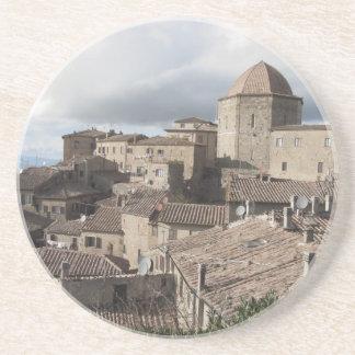 Panorama of Volterra village, Tuscany, Italy Coaster