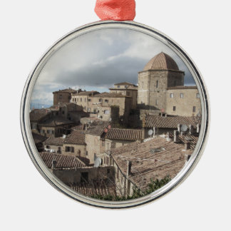 Panorama of Volterra village, Tuscany, Italy Metal Ornament