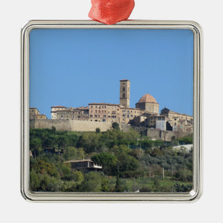 Panorama of Volterra village . Tuscany, Italy Metal Ornament