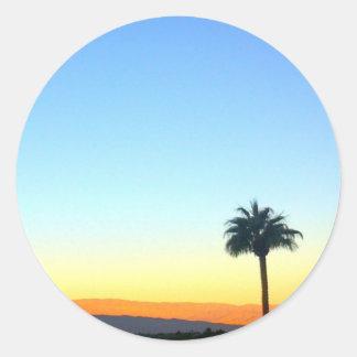 Panorama Palms Classic Round Sticker