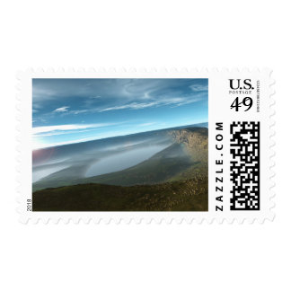 Panorama rendido del paisaje sello