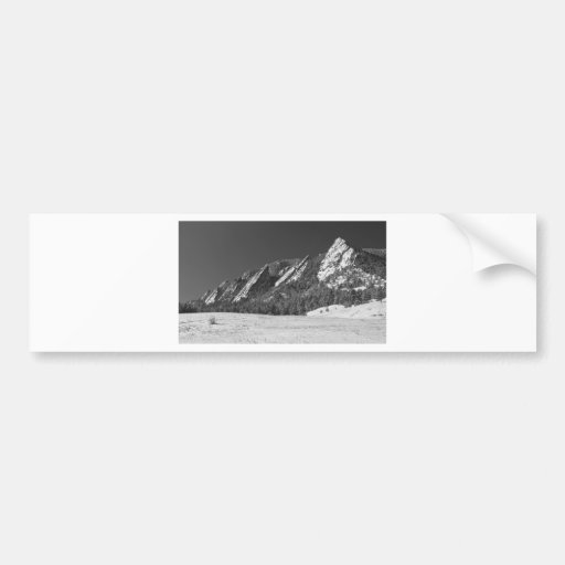 Panorama sacado el polvo nieve BW de Flatirons Bou Pegatina Para Auto