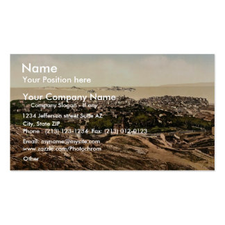 Panorama view from Notre Dame de la Garde Marsei Business Cards