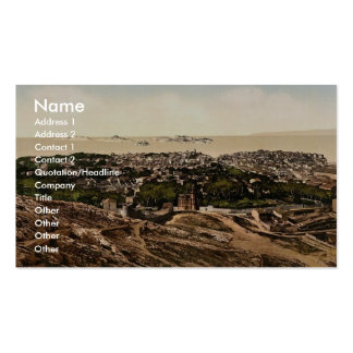 Panorama view from Notre Dame de la Garde Marsei Business Card Template