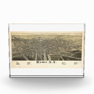 Panorama View of Rome New York (1886) Acrylic Award