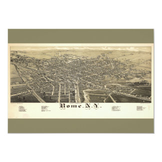 Panorama View of Rome New York (1886) Card