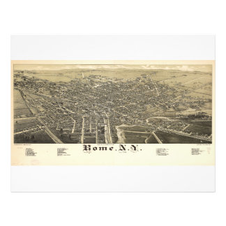 Panorama View of Rome New York (1886) Letterhead