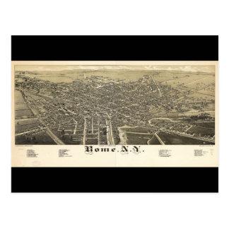 Panorama View of Rome New York (1886) Postcard