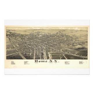 Panorama View of Rome New York (1886) Stationery