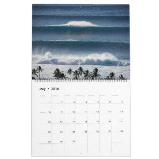 Panoramas grandes de la tubería del Banzai Calendarios