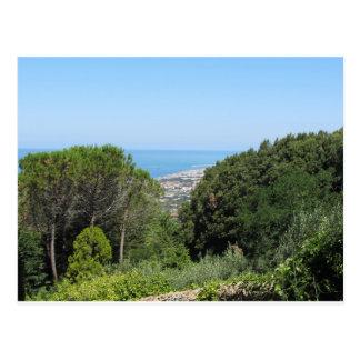 Panoramic aerial view of Livorno city Postcard