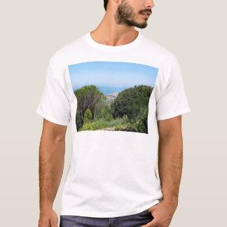 Panoramic aerial view of Livorno city T-Shirt