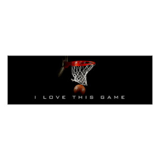 Panoramic Basketball Poster I Love This Game