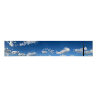 Panoramic Beach Clouds Poster