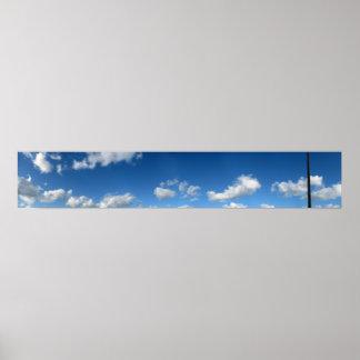 Panoramic Beach Clouds Print