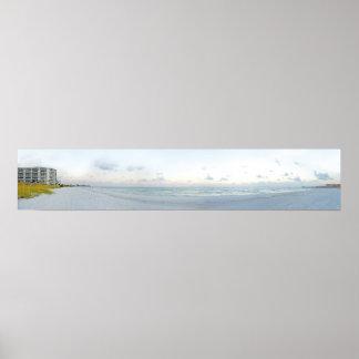 Panoramic Beach Photo II Poster