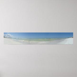 Panoramic Beach Photo Poster