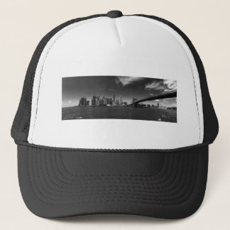 Panoramic Black White Brooklyn Trucker Hat