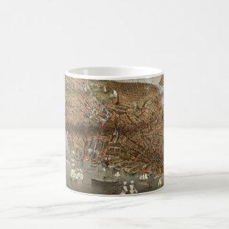 Panoramic Boston Harbor Classic White Coffee Mug