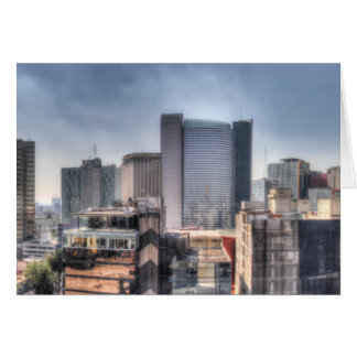 Panoramic Cityscape Of Mexico City Card