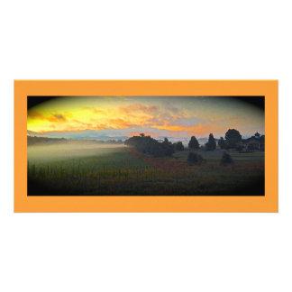 Panoramic Farm Sunrise Card