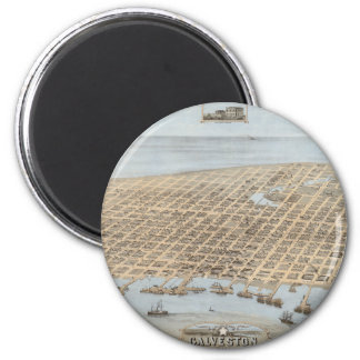 Panoramic Galveston 2 Inch Round Magnet