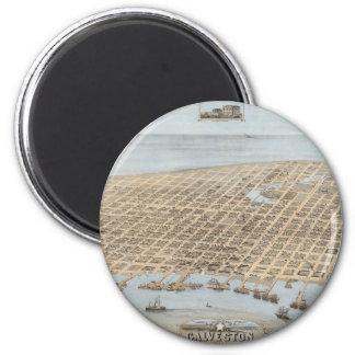 Panoramic Galveston Magnet