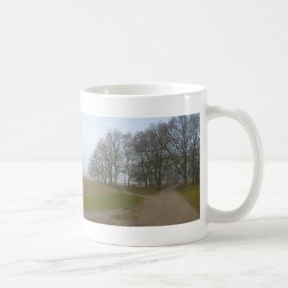 Panoramic Heathland Hikingtrail in Fog Mug