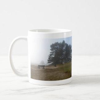Panoramic Heathland in Fog Mug