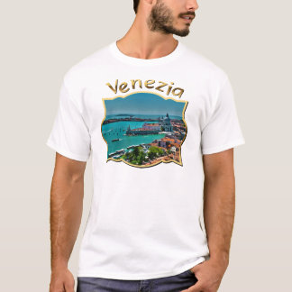 Panoramic Image of Venice, Italy T-Shirt