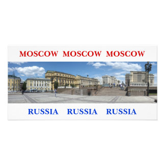 Panoramic Moscow cityscape Card