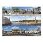 Panoramic Moscow cityscape Postcard