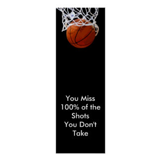 Panoramic Motivational Quote Basketball Poster