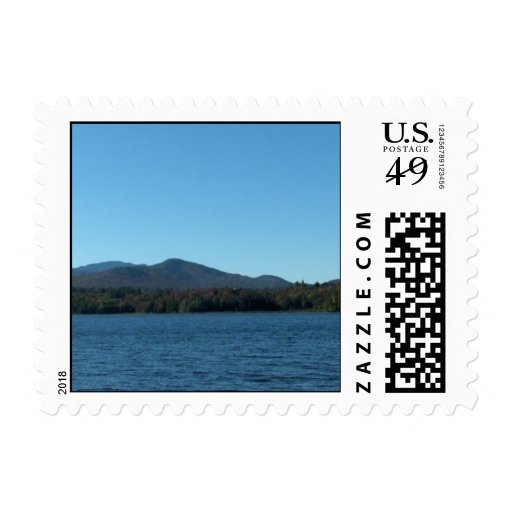 Panoramic Mountain View 2 Bookmark Postage Stamps