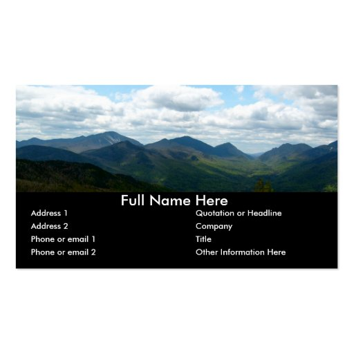 Panoramic Mountain View Bookmark Business Card Zazzle