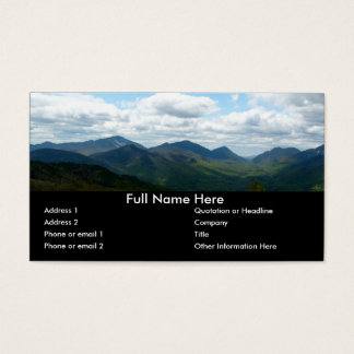 Panoramic Mountain View Bookmark Business Card