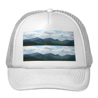 Panoramic Mountain View Bookmark Mesh Hat